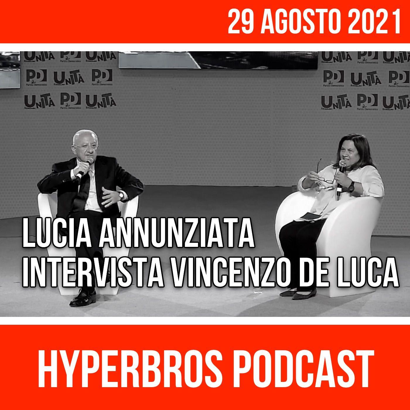 Festa dell'Unità, Lucia Annunziata intervista Vincenzo De Luca