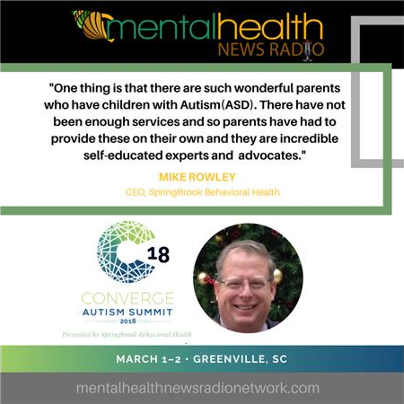 Mental Health News Radio - Autism Treatment from the Inside Out: Mike Rowley, CEO
