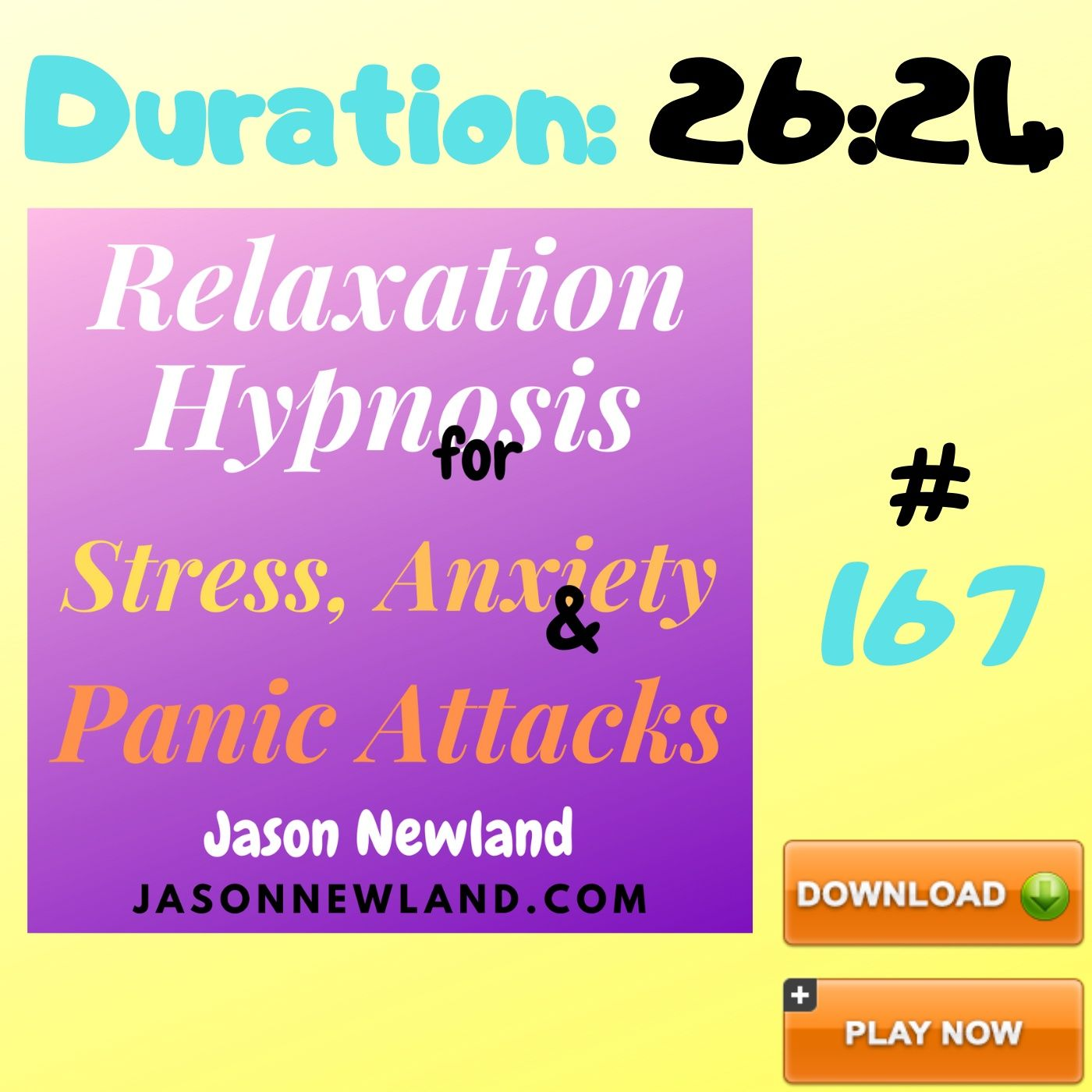 "#167 Relaxation Hypnosis for Stress, Anxiety & Panic Attacks - ""RELAX DEEPLY / SLEEP DEEPLY"" (Jason Newland) (26th July 2020)"