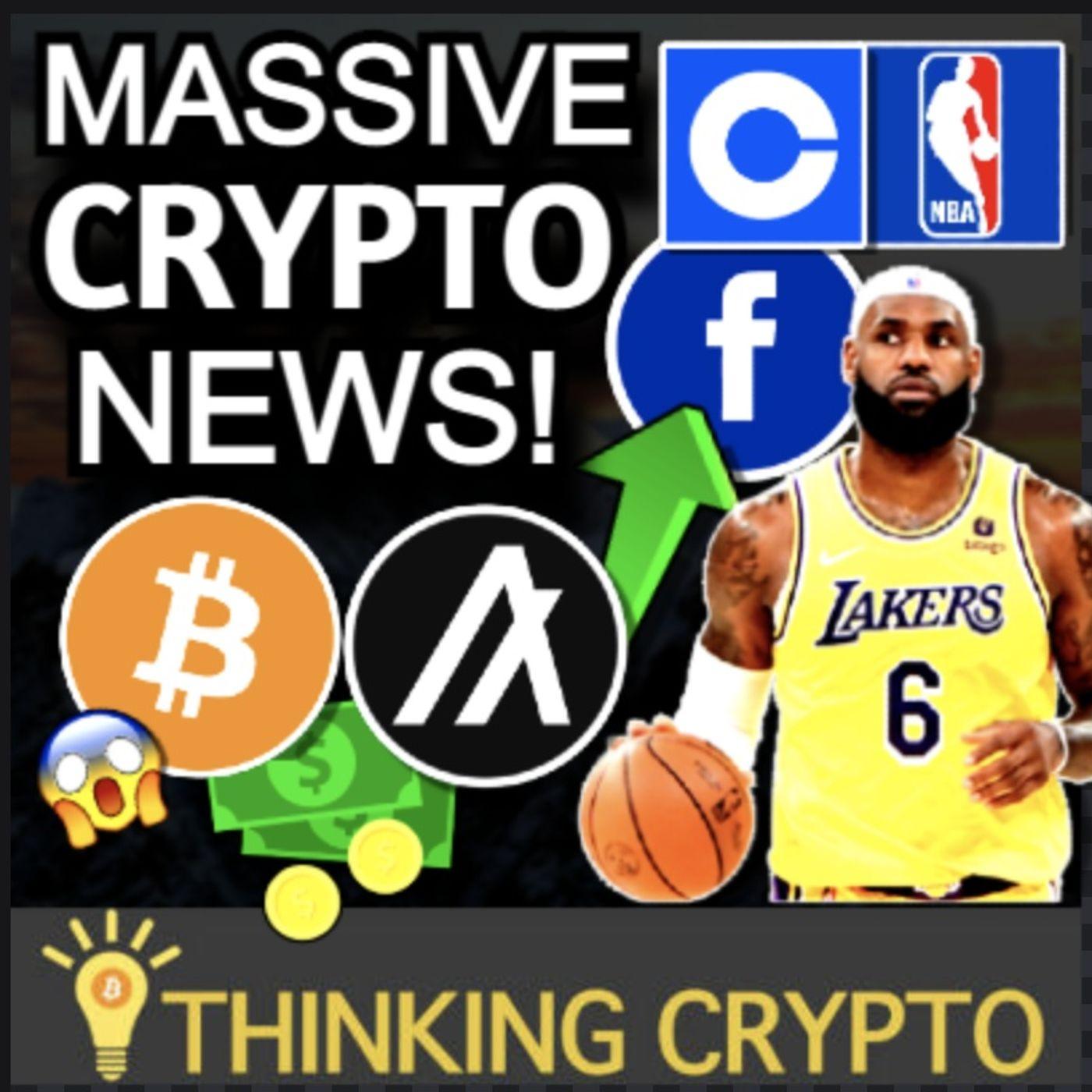 HUGE CRYPTO NEWS - BITCOIN ETF NYSE, COINBASE NBA WNBA & FACEBOOK, ALGORAND NBA GAME NFT