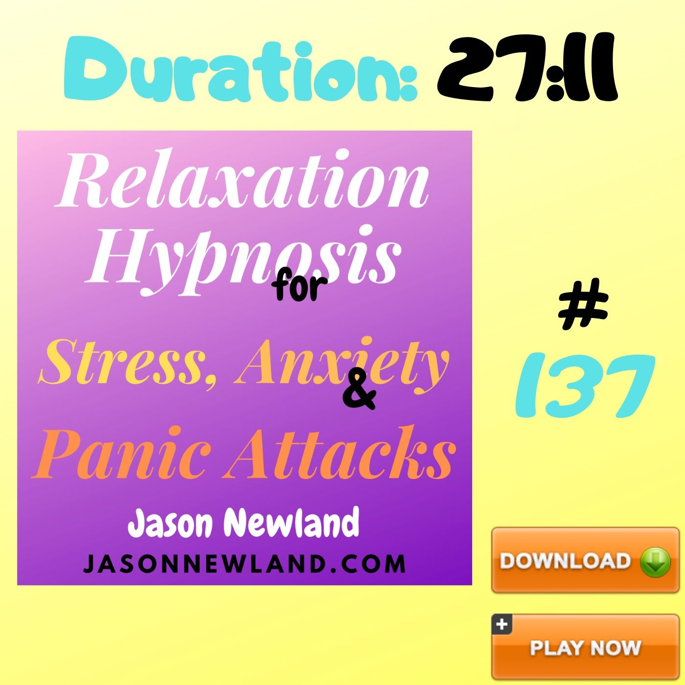"#137 Relaxation Hypnosis for Stress, Anxiety & Panic Attacks - ""MIND WEIGHT RELAXATION"" (Jason Newland) (22nd May 2020)"