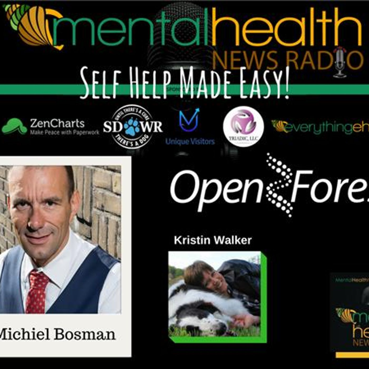 Mental Health News Radio - Self Help Made Easy! Open Forest's Dr. Michiel Bosman