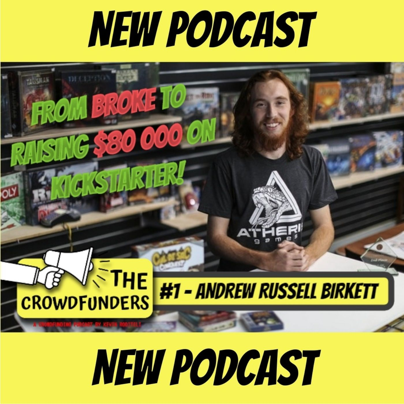 From Broke to raising $80 000 on Kickstarter! | Andrew Russell Birkett