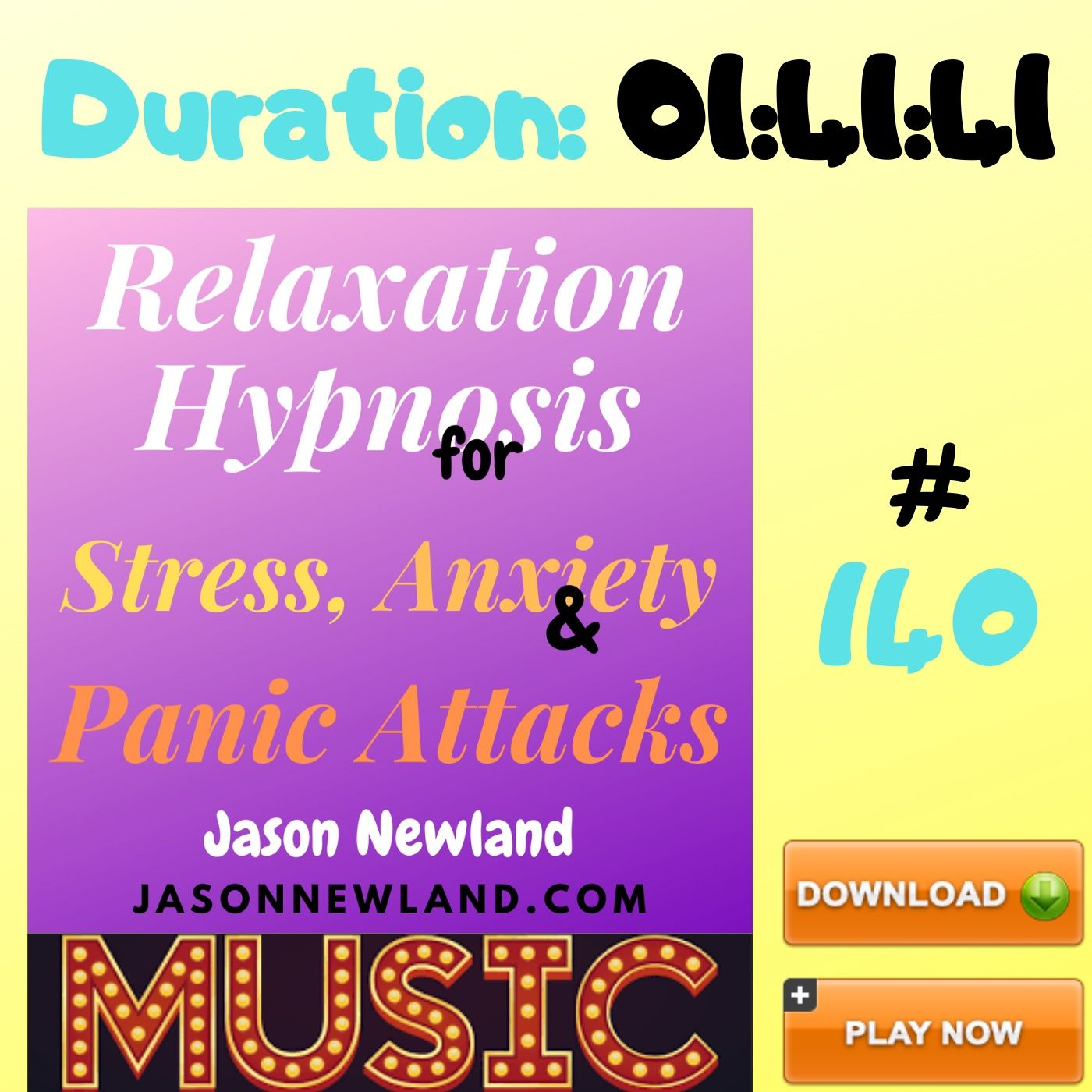 "#140 Relaxation Hypnosis for Stress, Anxiety & Panic Attacks - ""TV REMOTE"" (Jason Newland) (23rd May 2020) with MUSIC"