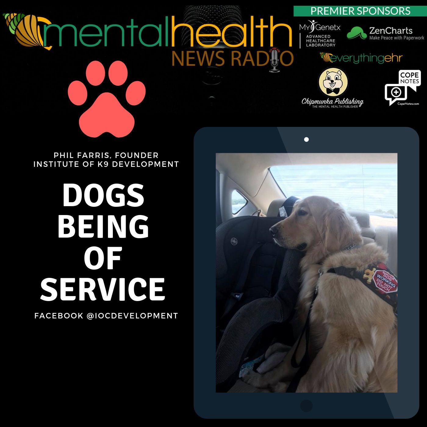 Mental Health News Radio - Dogs Being of Service with Trainer Phil Farris