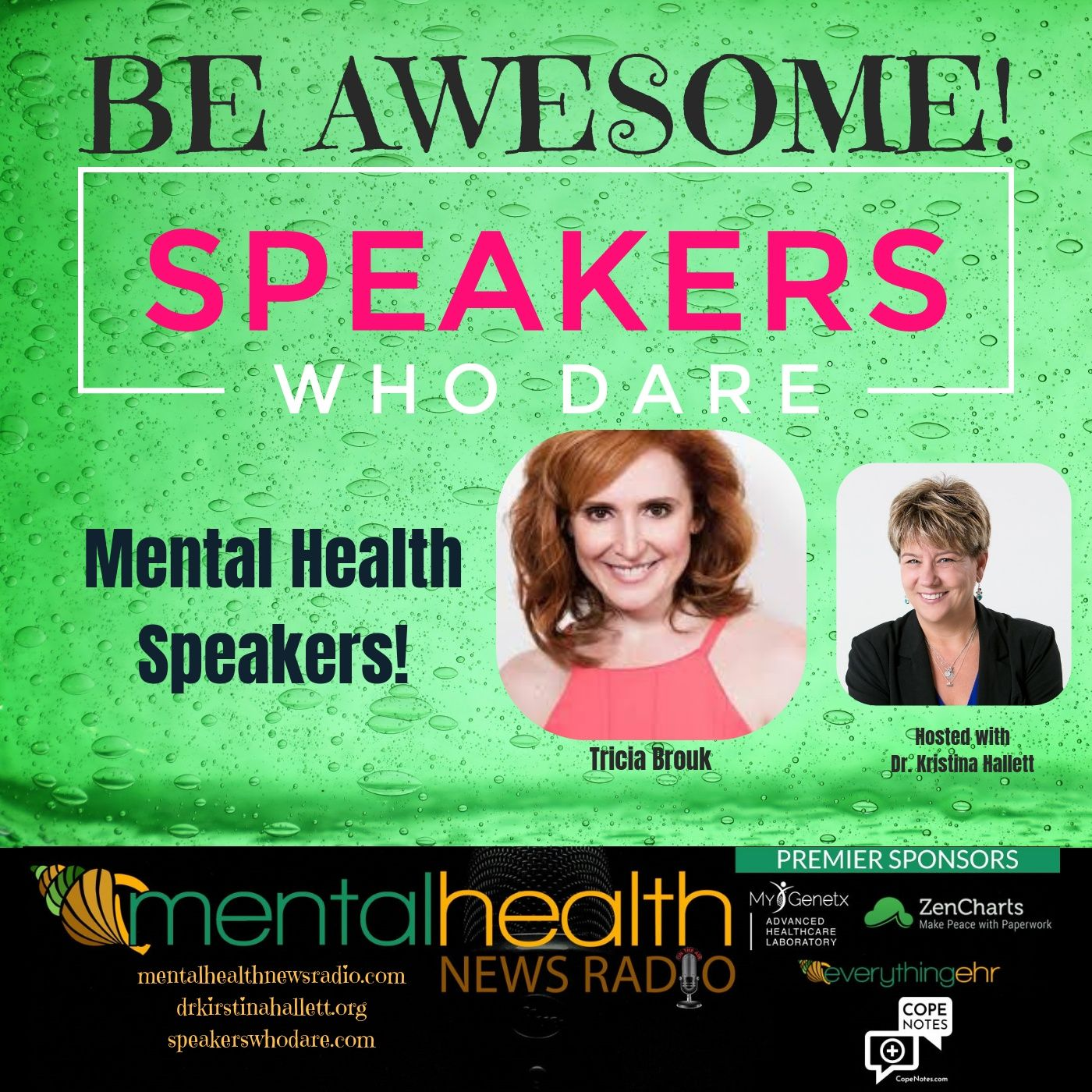 Mental Health News Radio - Be Awesome: Mental Health Speakers with Tricia Brouk