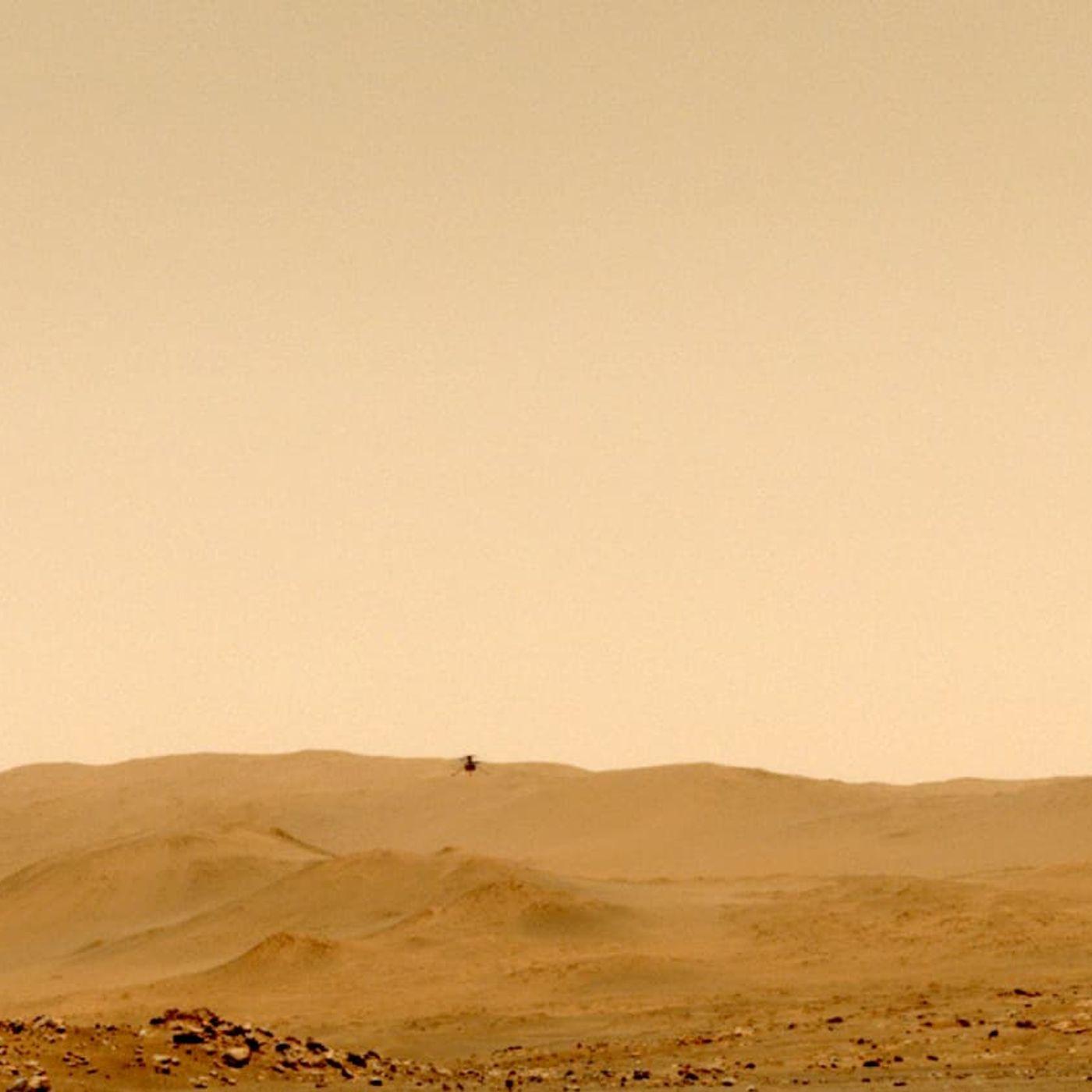Il suono di Ingenuity nei cieli di Marte
