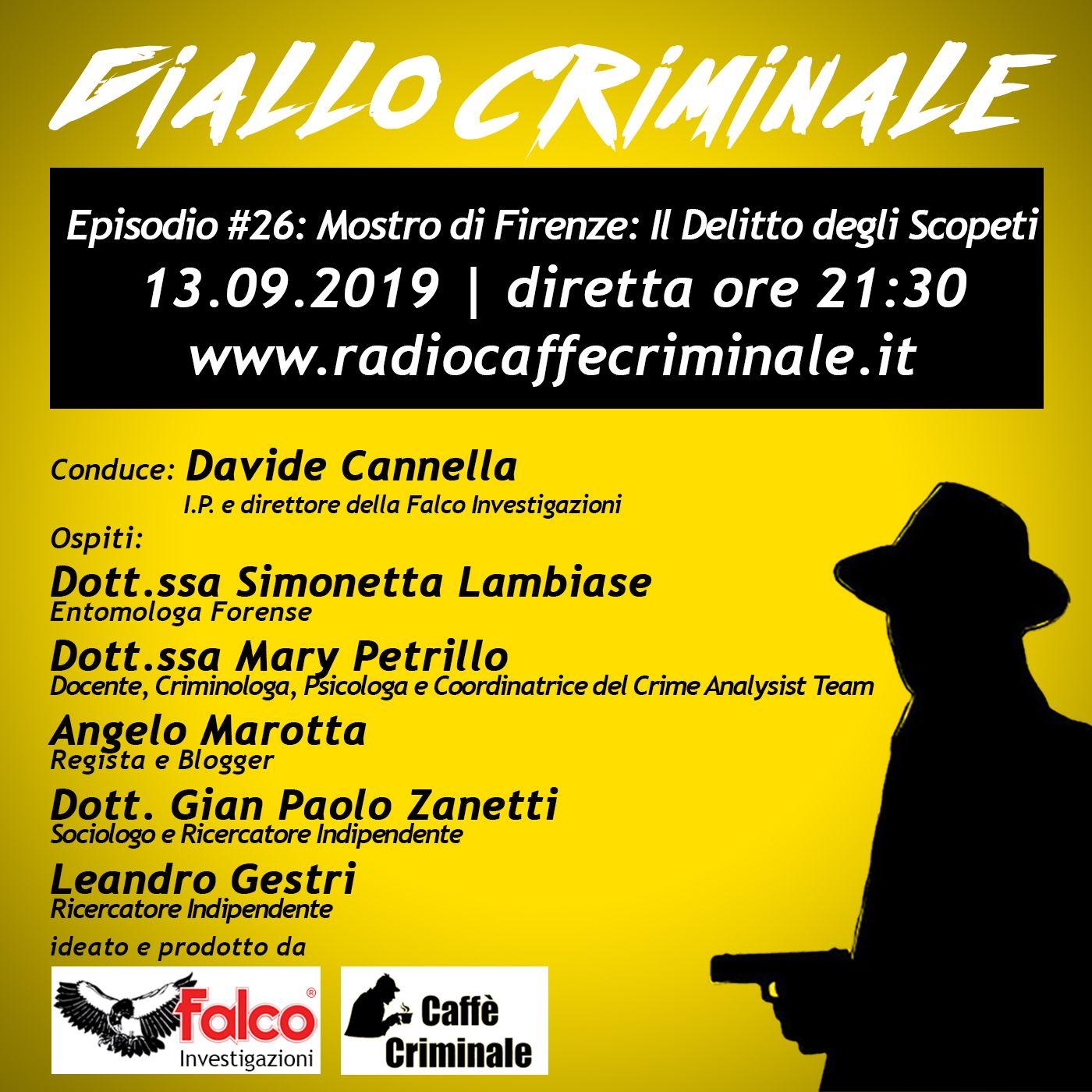 #26 Episodio | Mostro di Firenze, Delitto degli Scopeti_13.09.2019