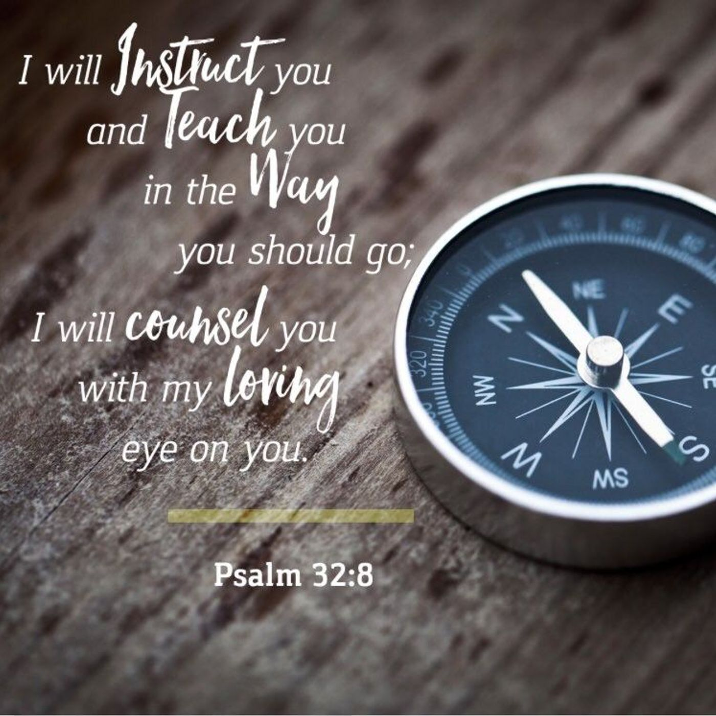 Who is Speaking in Psalm 32:8