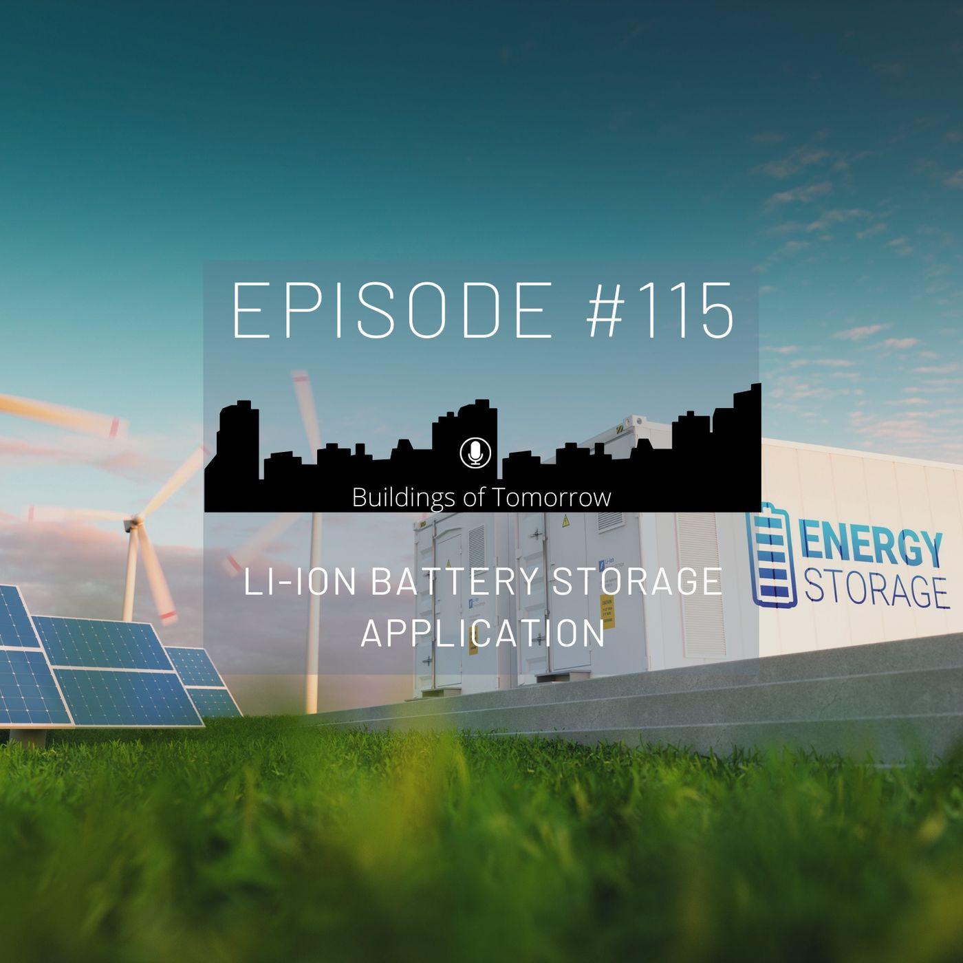 #115 Lithium-ION Battery Storage