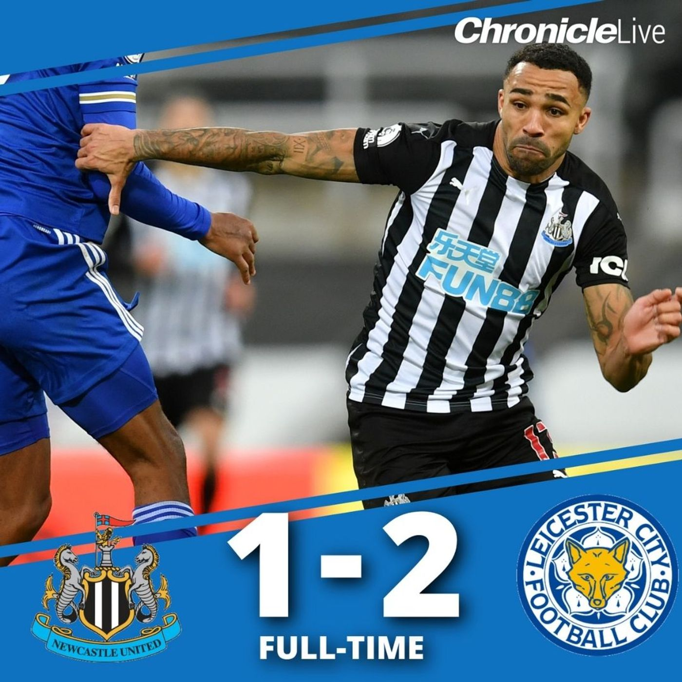 NUFC start 2021 with a defeat as they fall 2-1 to Leicester City