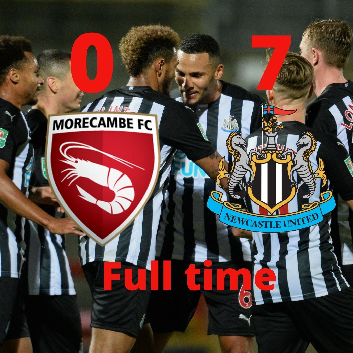 Morecambe 0-7 Newcastle - Magpies run rampant in League Cup tie