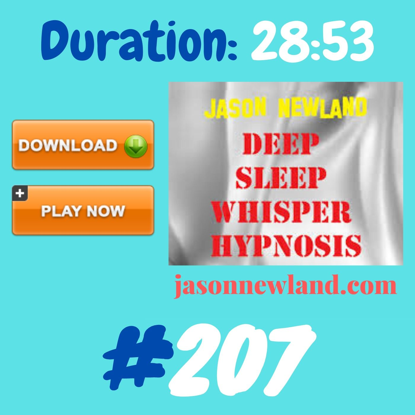 #361 Deep Sleep Whisper Hypnosis (Jason Newland) with MUSIC