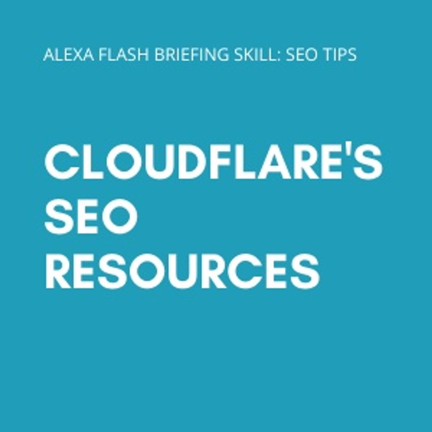 Cloudflare's SEO resources