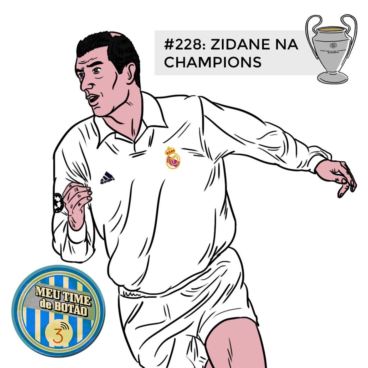 Botão #228 As noites europeias de Zidane