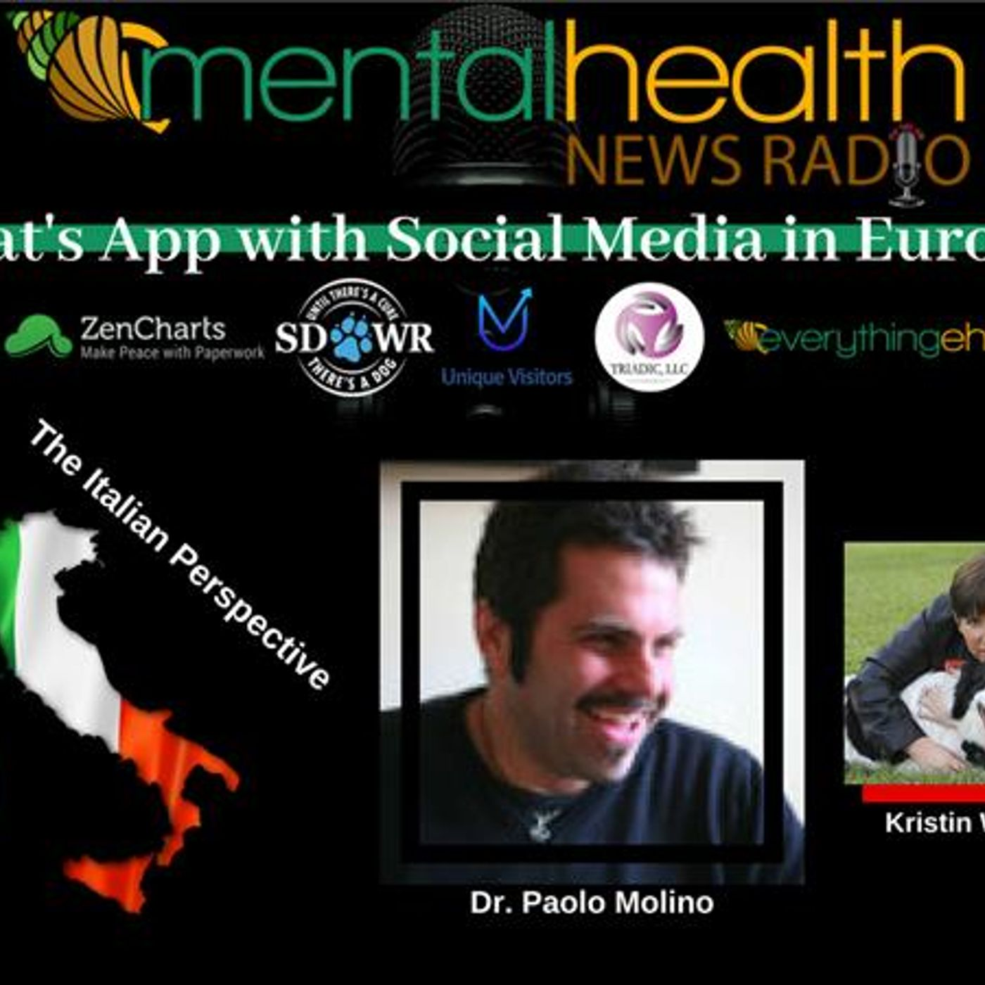 Mental Health News Radio - What's App With Social Media in Europe with Dr. Paolo Molino