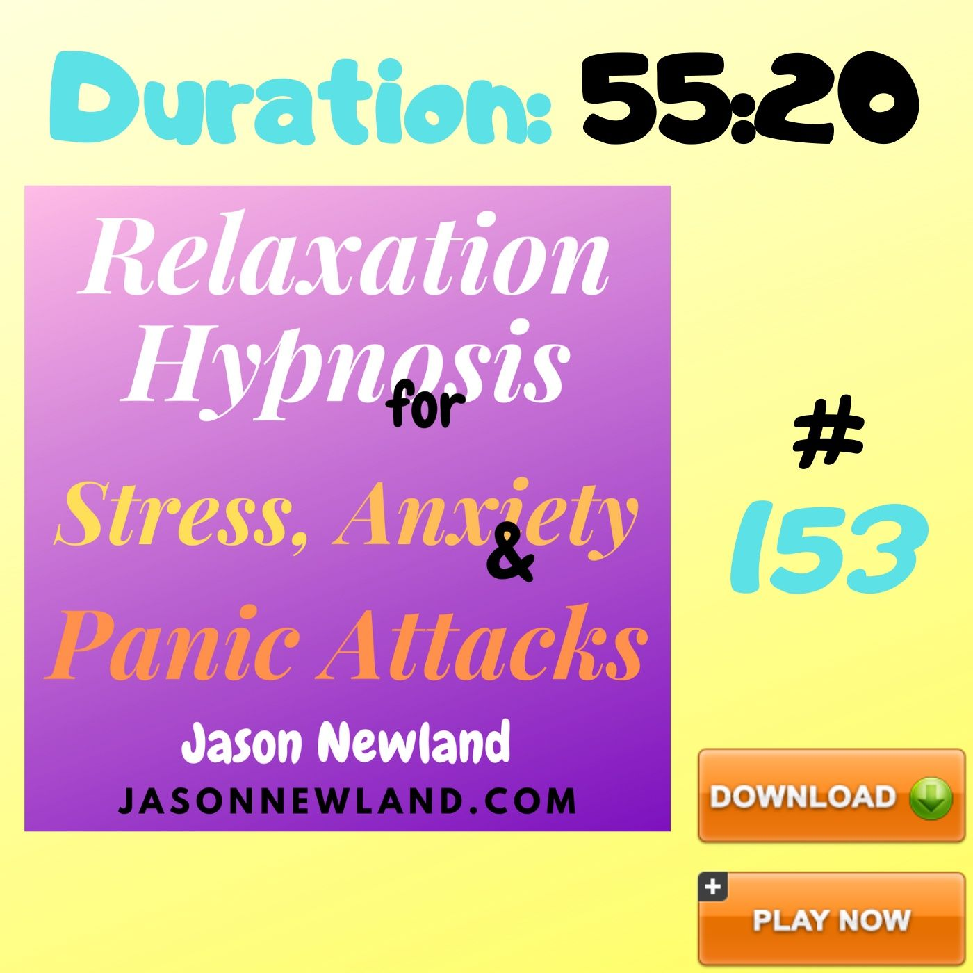 """#153 Relaxation Hypnosis for Stress, Anxiety & Panic Attacks - """"COPING WITH NOISY NEIGHBOURS STRESS"""" (Jason Newland) (21st June 2020)"""
