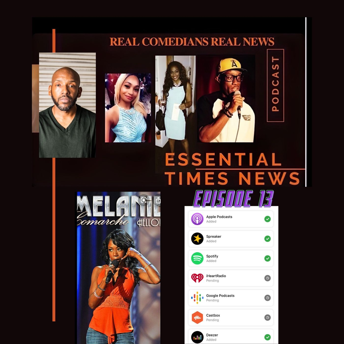 episode 13 Melanie Comarcho - Real Comedians Real News