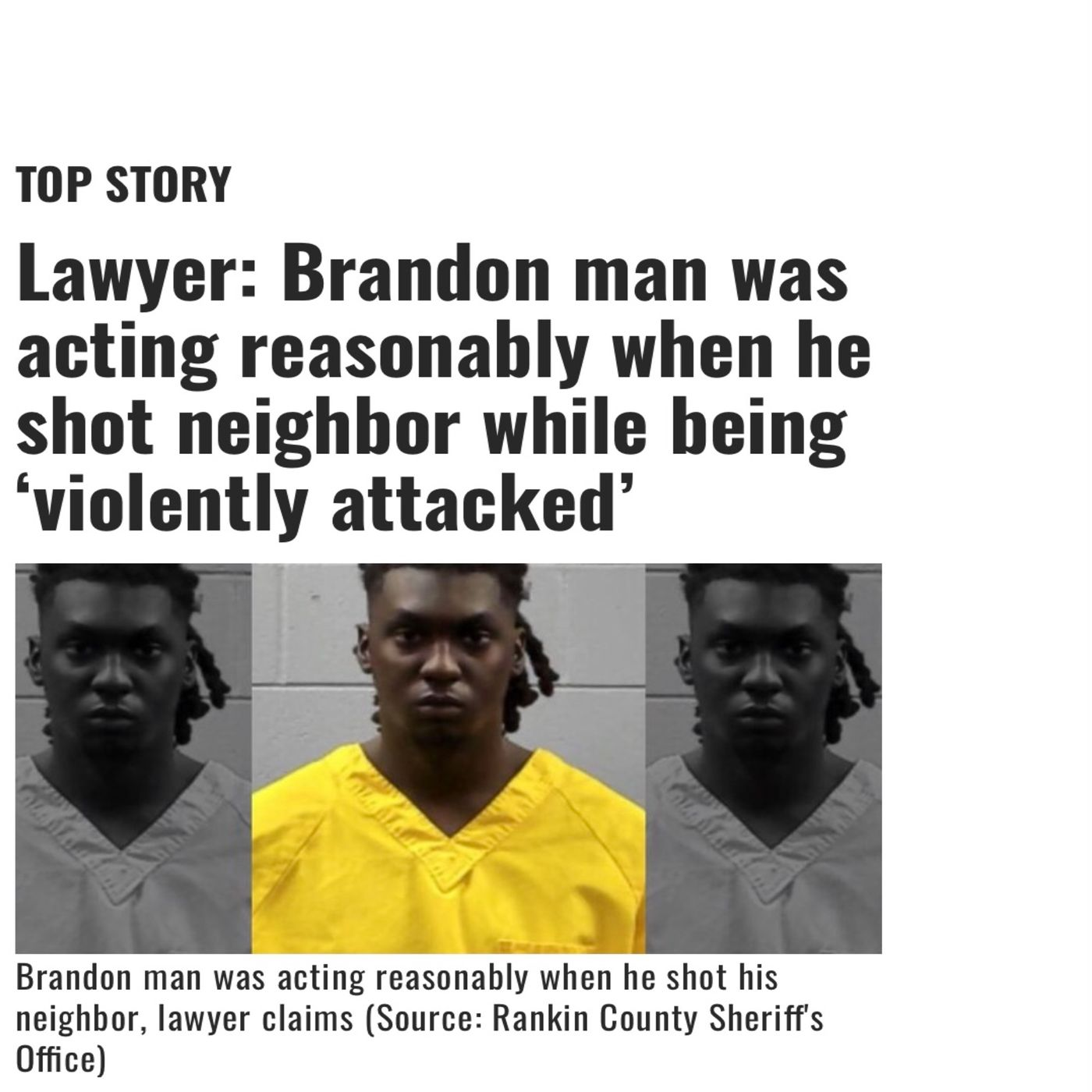Brandon Ms. Black Man Arrested And Charged With Murder For Allegedly Defending Himself From White Man