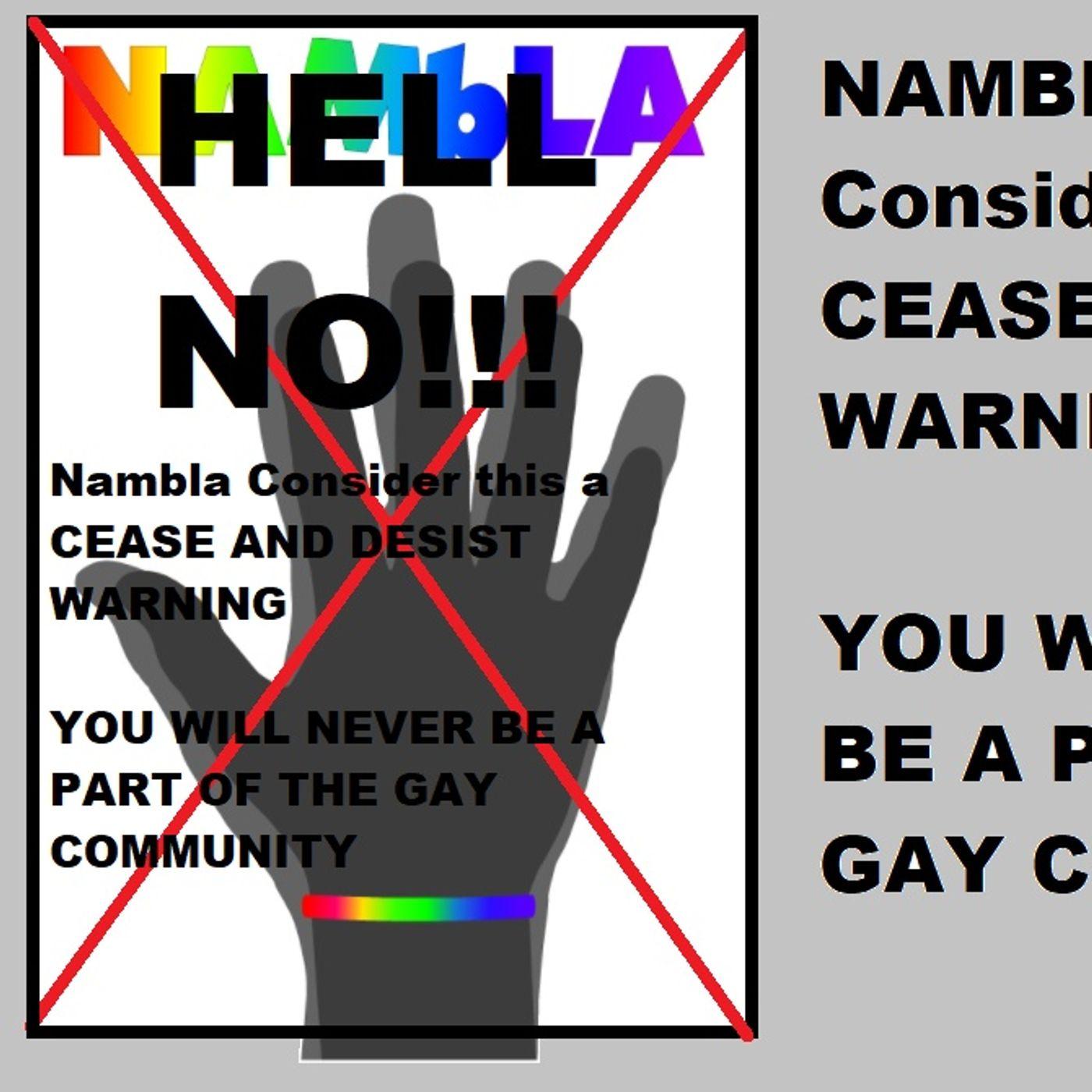 NAMBLA consider this a CEASE AND DESIST WARNING
