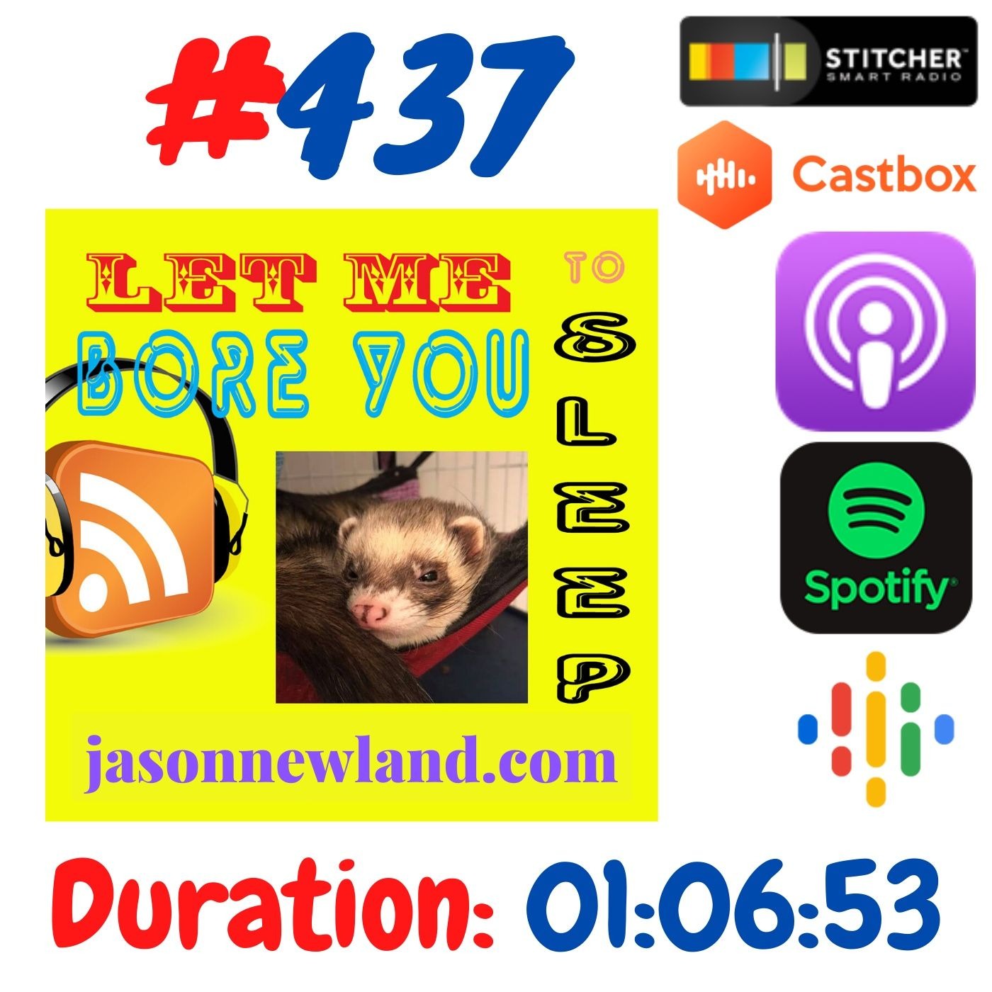"""#437 Let me bore you to sleep """"ANDRE VET VISIT"""" - Jason Newland (24th June 2020)"""