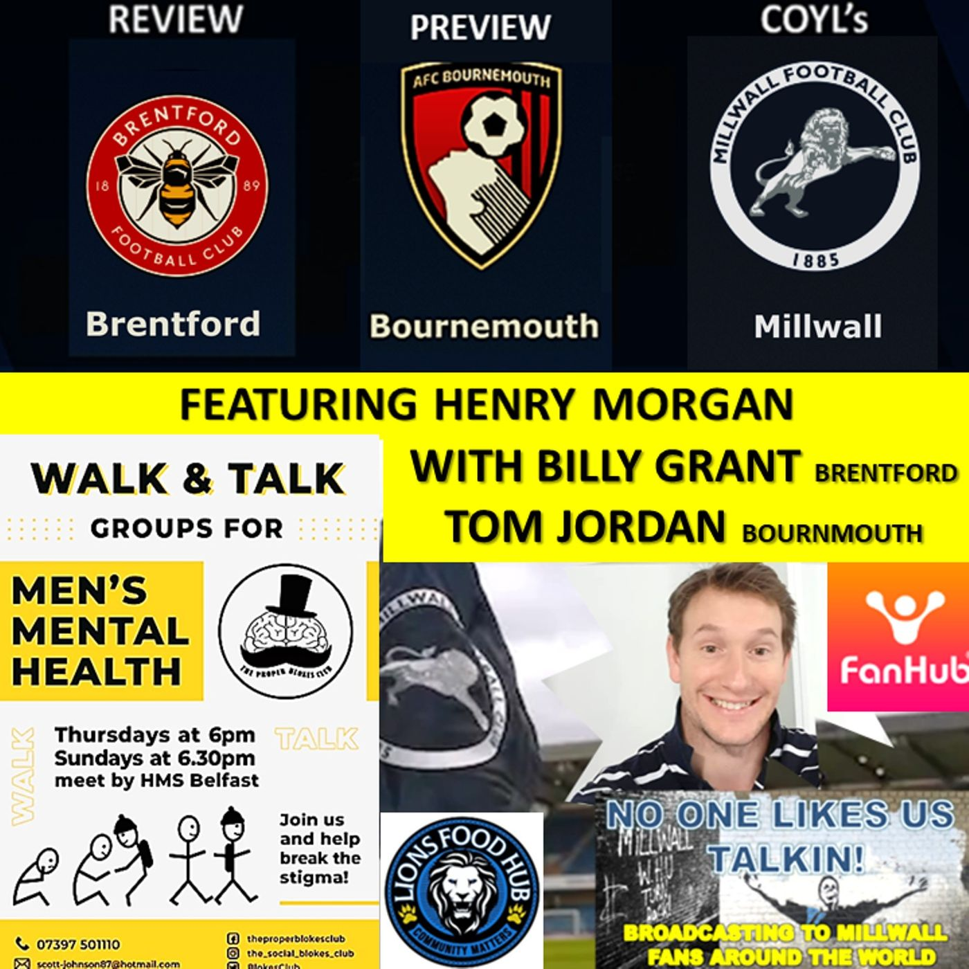Henry Morgan Reviews Brentford with Billy Grant and Previews Bournemouth with Tom Jordan 200421