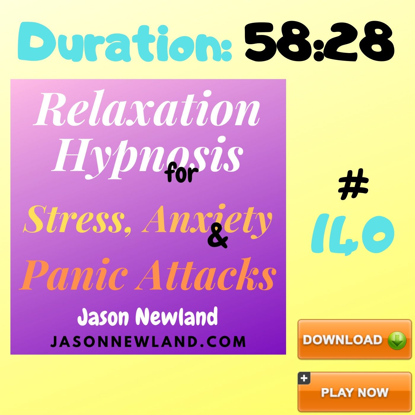 "#140 Relaxation Hypnosis for Stress, Anxiety & Panic Attacks - ""TV REMOTE"" (Jason Newland) (23rd May 2020)"