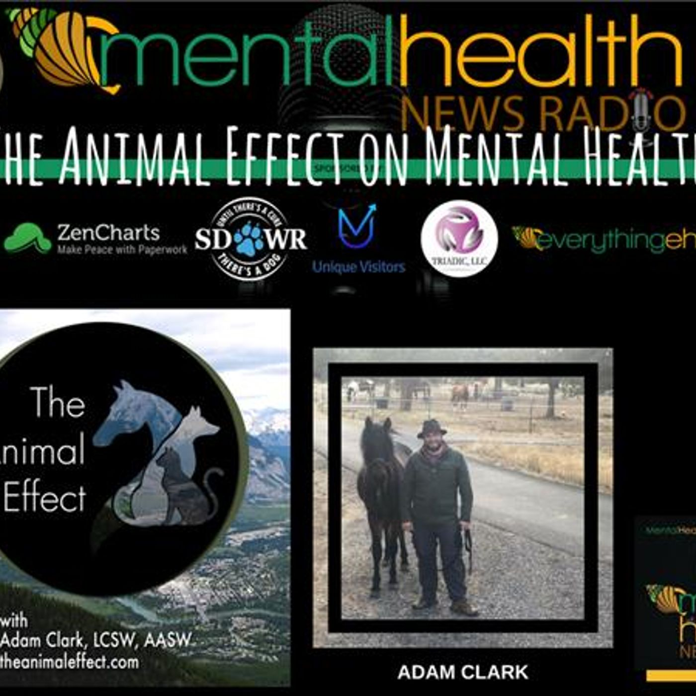 Mental Health News Radio - The Animal Effect On Mental Health with Adam Clark, LCSW, AASW