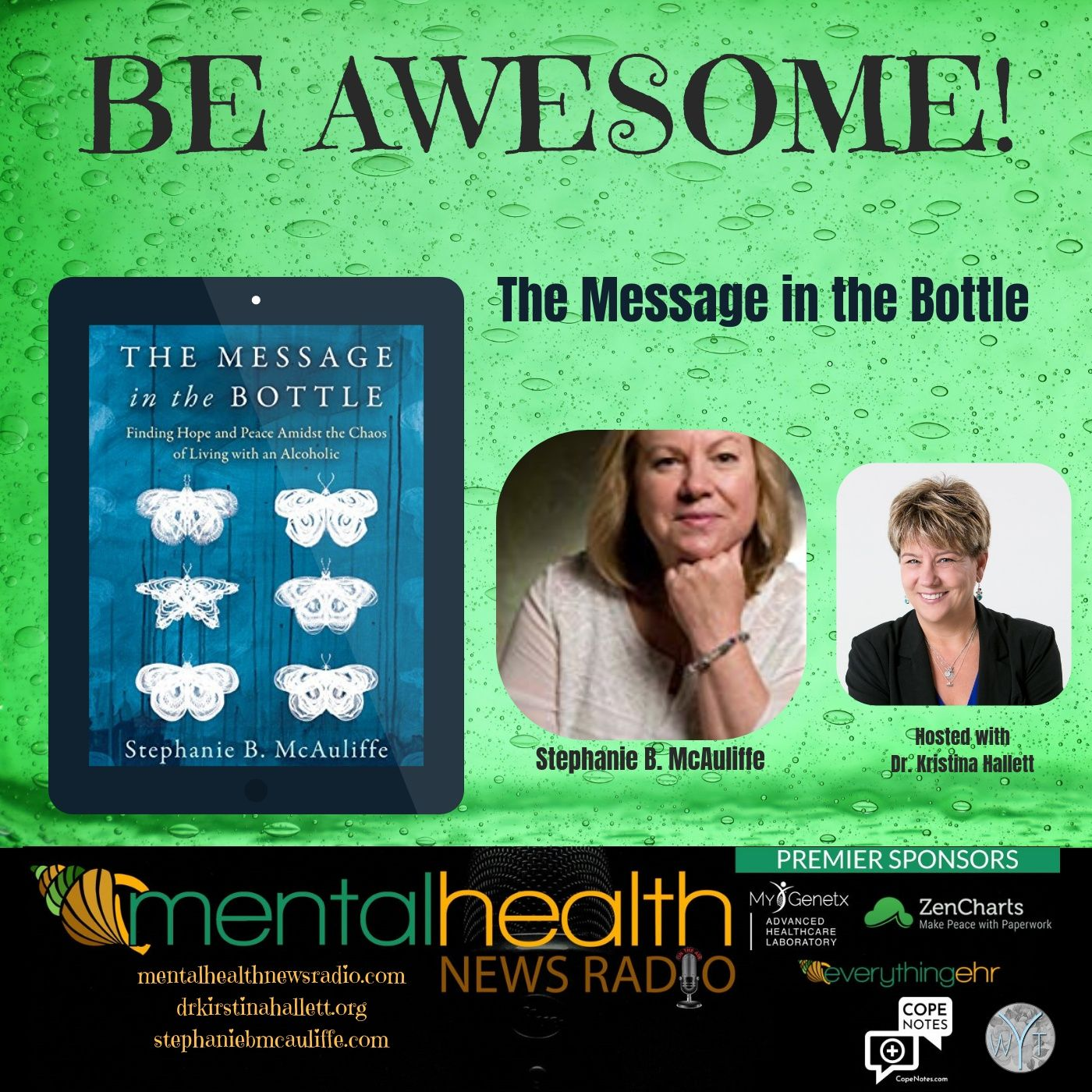 Mental Health News Radio - Be Awesome: The Message in the Bottle with Stephanie B. McAuliffe