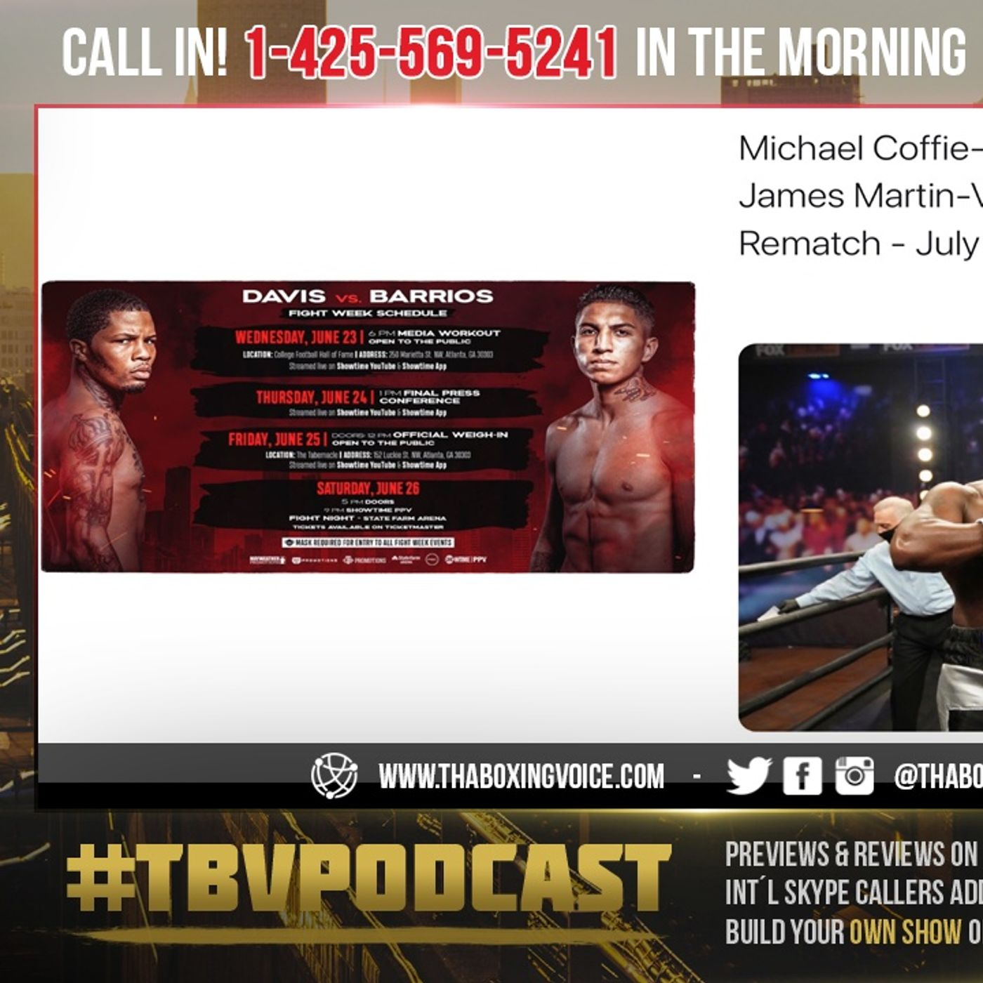 ☎️Gervonta Davis vs Mario Barrios Fight Week❗️🔥Michael Coffie vs Gerald Washington🤩