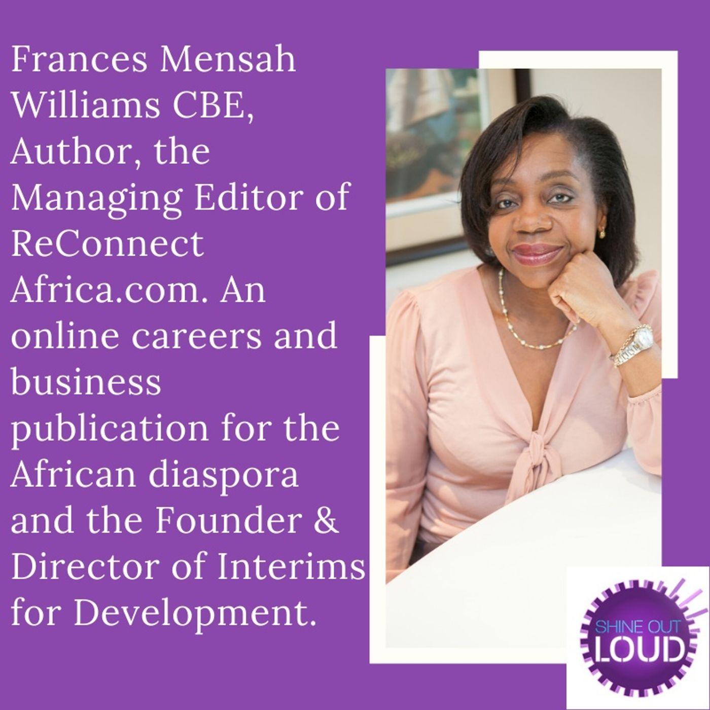 "Frances Mensah Williams CBE- Our International Women's Day 2020 ""Woman to Celebrate"