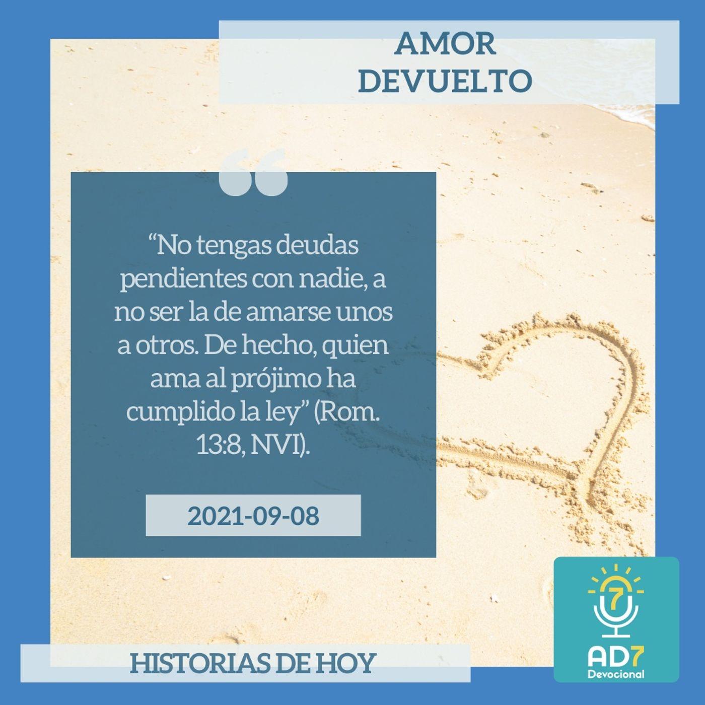8 de septiembre - Amor devuelto - Devocional de Jóvenes - Etiquetas Para Reflexionar