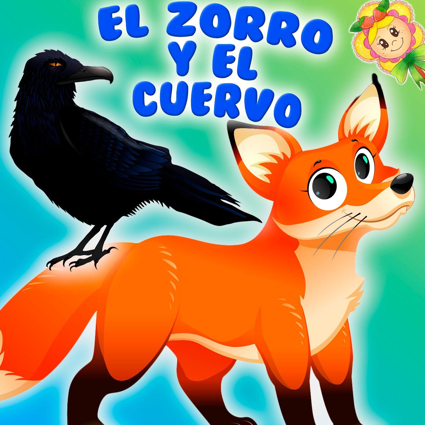 70. El zorro y el cuervo. Fabula contada por Hada de Fresa. Aprendemos ingles con Miss Pitinglish