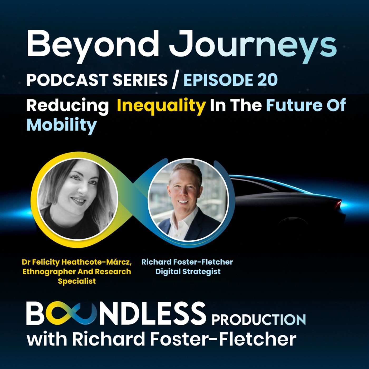 EP20 Beyond Journeys: Dr Felicity Heathcote-Márcz, Cyborg Ethnographer – Reducing inequality in the future of mobility
