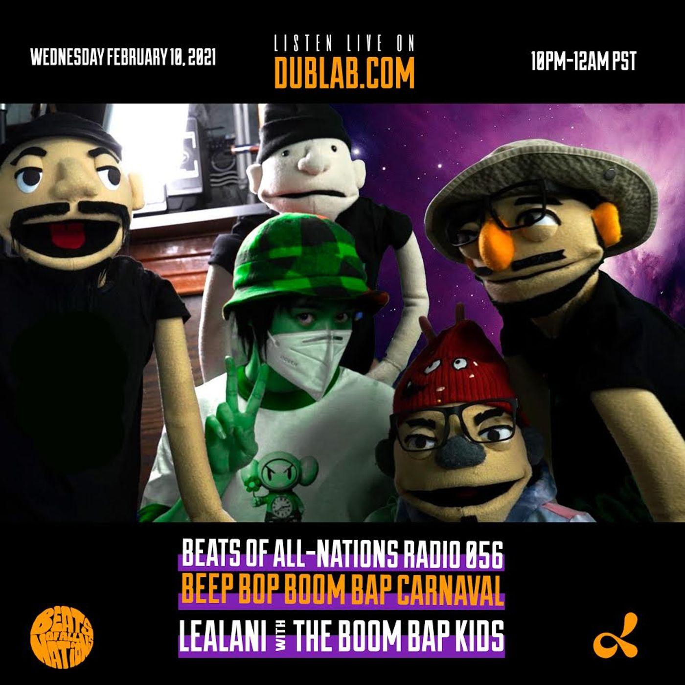 BEEP BOP BOOM BAP CARNAVAL! LEALANI with The Boom Bap Kids | Beats of All-Nations Radio 056