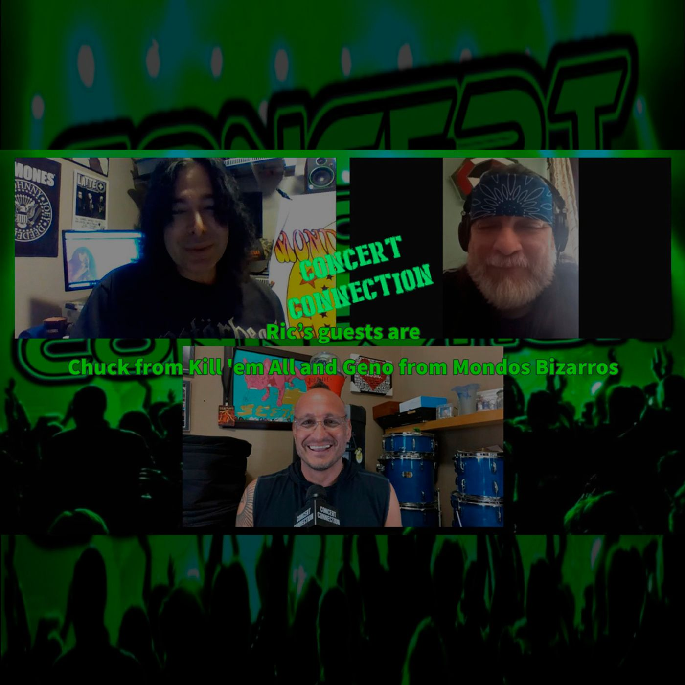 TCC Mar 24 2021 Ric's guests are Chuck from Kill 'em All and Geno from Mondos Bizarros