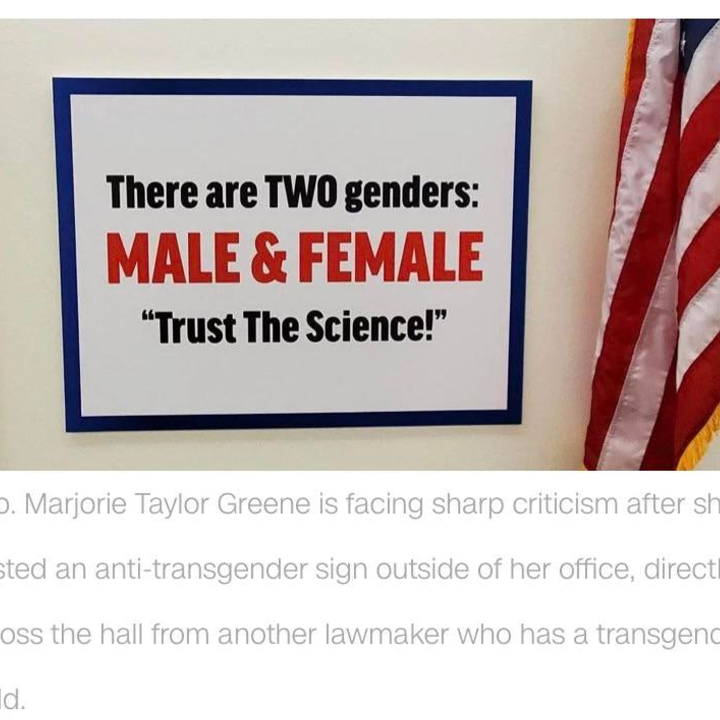 You cannot even make this up - Marjorie Taylor Greene