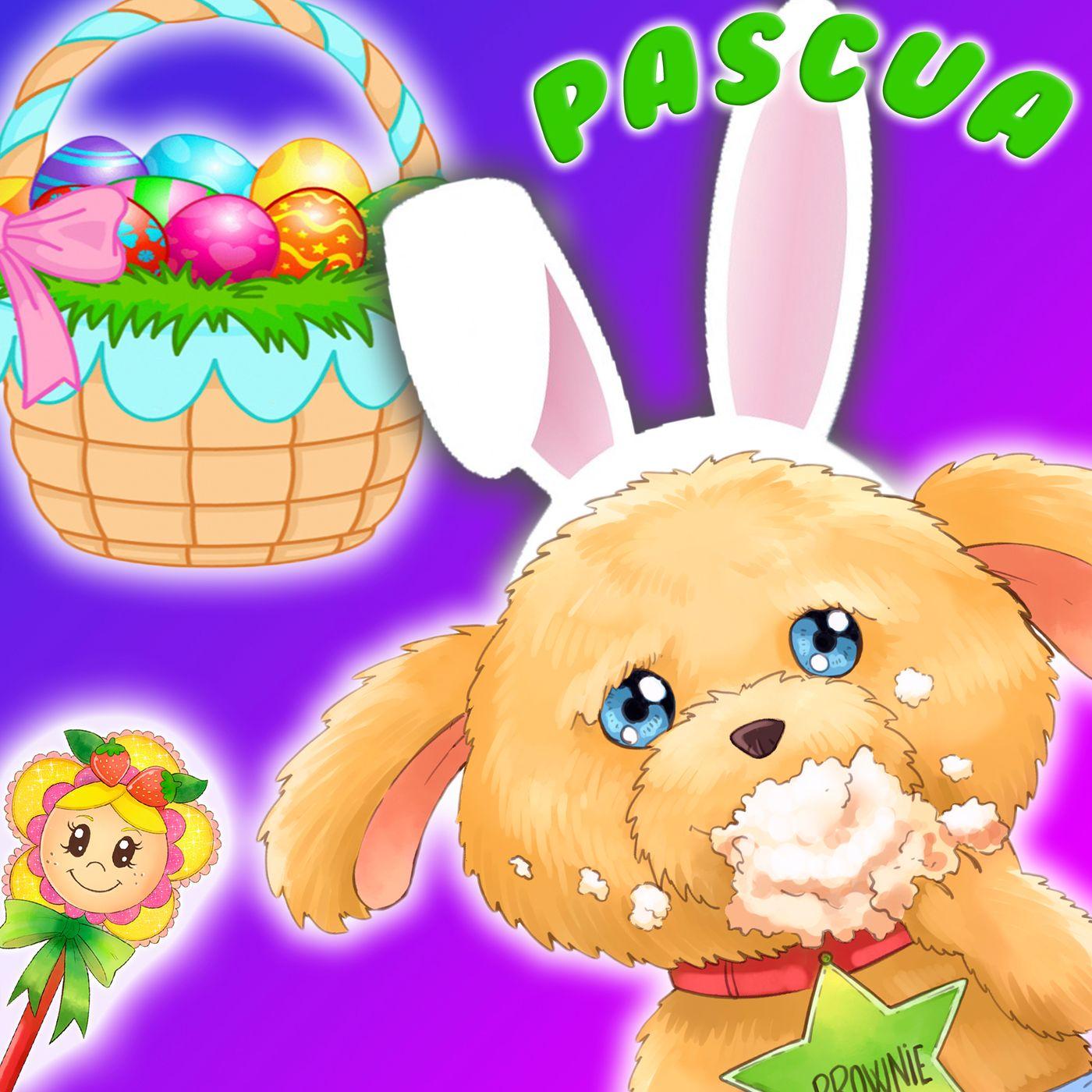 32. Brownie es la liebrecita de Pascua. Cuento infantil para aprender inglés con el Hada de Fresa sobre la Pascua