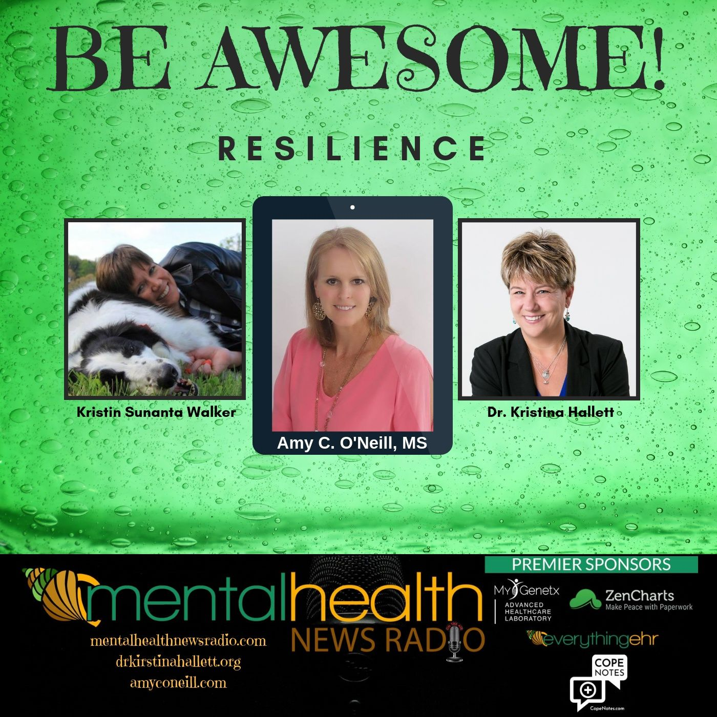 Mental Health News Radio - Be Awesome: Resilience with Amy C. O'Neill, MS