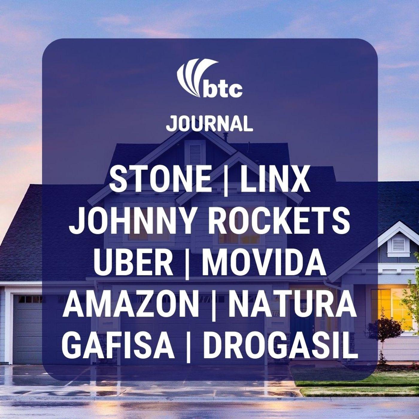 Stone, Linx, Johnny Rockets, Uber, Movida, Gafisa e Natura | BTC Journal 13/08/20