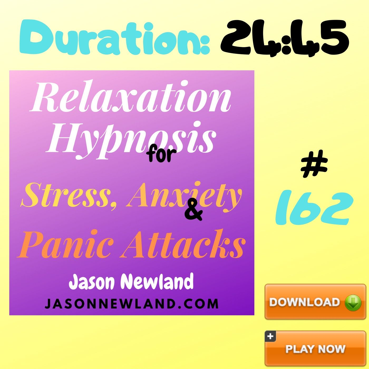"#162 Relaxation Hypnosis for Stress, Anxiety & Panic Attacks - ""REMOVING STRESS BATTERIES"" (Jason Newland) (5th July 2020)"
