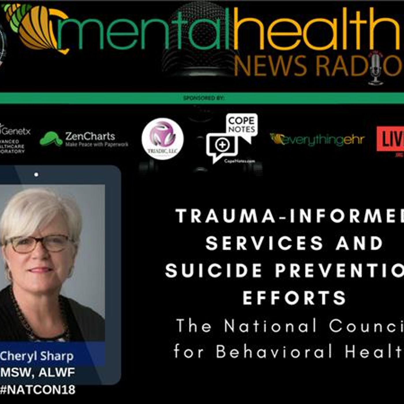 Mental Health News Radio - Trauma-Informed Services and Suicide Prevention Efforts with Cheryl Sharp
