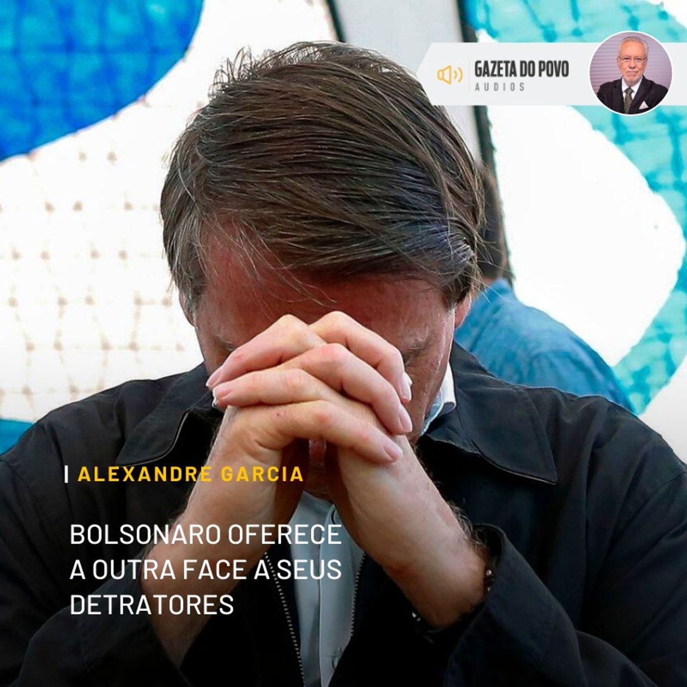 Bolsonaro oferece a outra face a seus detratores