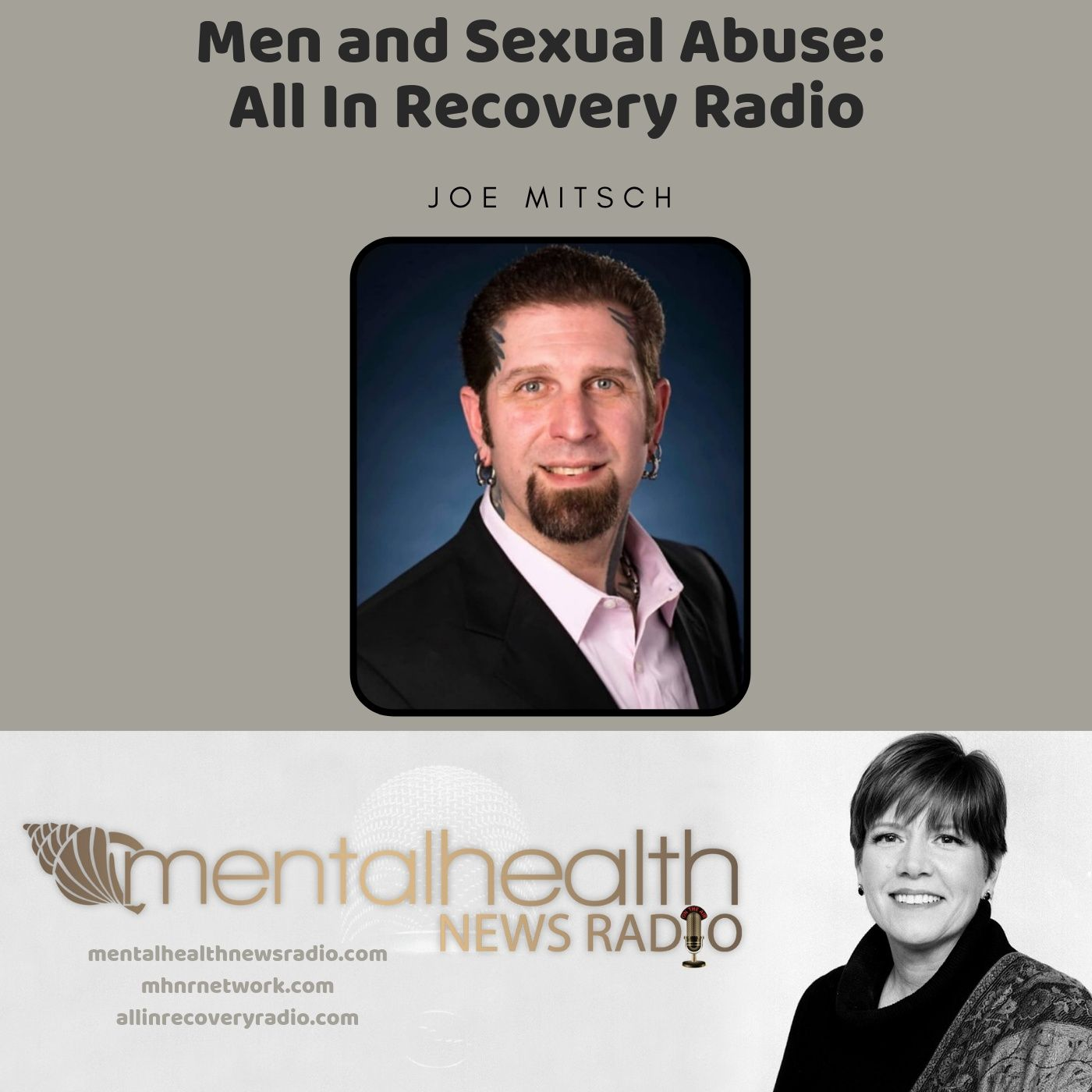 Mental Health News Radio - Men and Sexual Abuse: All In Recovery Radio