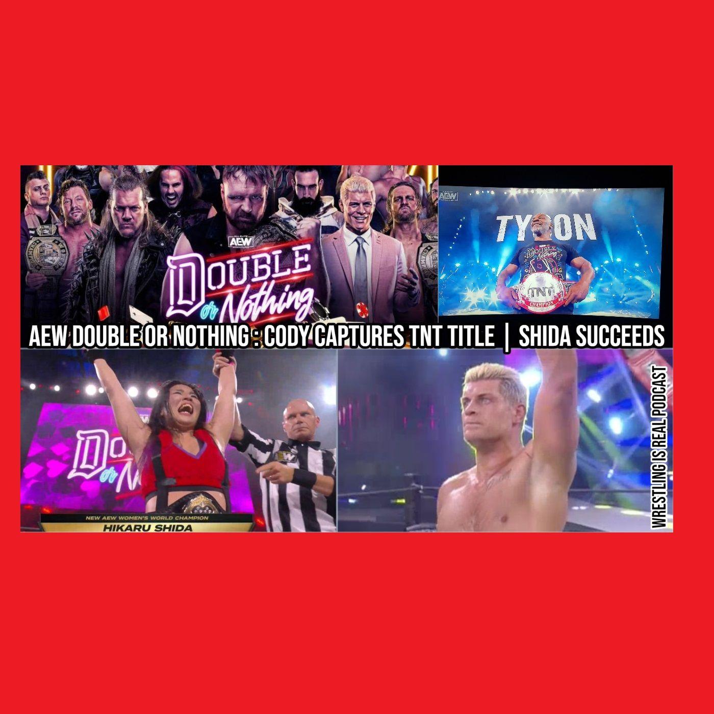 AEW Double or Nothing: Cody Captures TNT Title; Shida Succeeds KOP052420-535