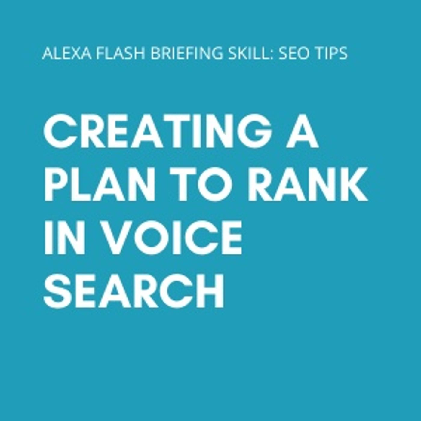 Creating a Plan to Rank in Voice Search