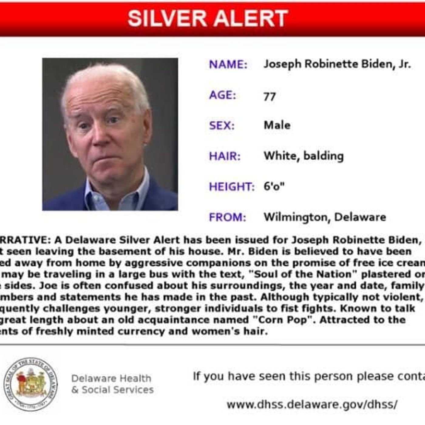 Silver Alert at the WhiteHouse