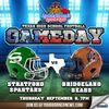 Stratford Spartans vs Bridgeland Bears Football