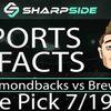 FREE MLB Baseball Betting Pick: Diamondbacks vs. Brewers - July 19