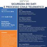 Sicurezza dei Dati e Processo Civile Telematico - Trento, 16.12.2016